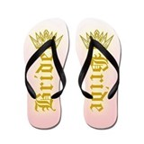 Bride with Crown Flip Flops