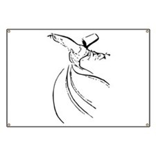 Whirling Sufi Dervish Banner