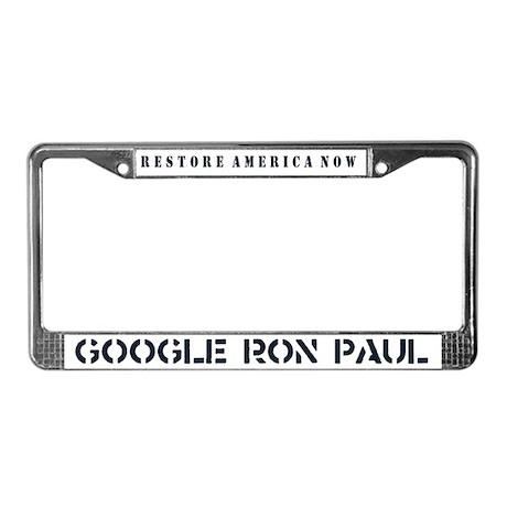 Restore America Now License Plate Frame