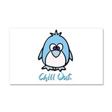 Chill Out Penguin Car Magnet 20 x 12