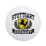 Stuttgart Germany Ornament (Round)