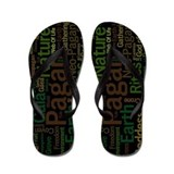 Pagan Words Flip Flops