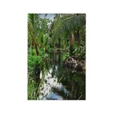 Peaceful Forest Stream Rectangle Magnet