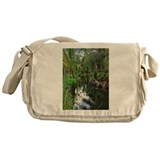Peaceful Forest Stream Messenger Bag