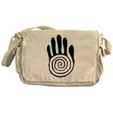 Sacred Hand in Black - Messenger Bag
