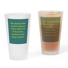 George Gershwin quotes Drinking Glass