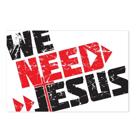 We Need Jesus Postcards (Package of 8)