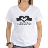 Heart for Black Labradors Shirt