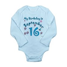 September 16th Birthday Long Sleeve Infant Bodysui