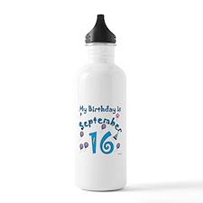 September 16th Birthday Water Bottle