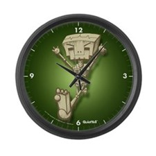 Mr. Bot Bones (Green) Large Wall Clock