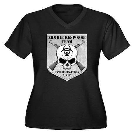 Zombie Response Team Women's Plus Size V-Neck Dark