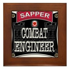 US Army Combat Engineer Sappe Framed Tile