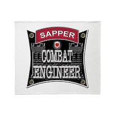 US Army Combat Engineer Sappe Throw Blanket
