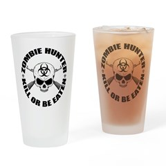 Zombie Hunter 2 Drinking Glass