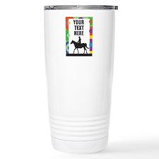 Horse Border Travel Mug