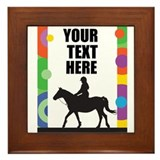 Horse Border Framed Tile