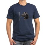 Black Lab Men's Fitted T-Shirt (dark)