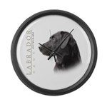 Black Lab Large Wall Clock