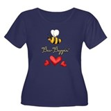Bee Boppin Bumble Bee Women's Plus Size Scoop Neck