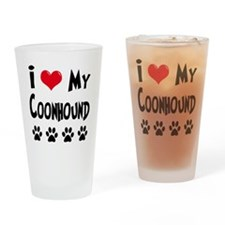 I Love My Coonhound Drinking Glass