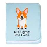Pembroke Welsh Corgi baby blanket