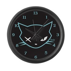 Cathead Miles Large Wall Clock