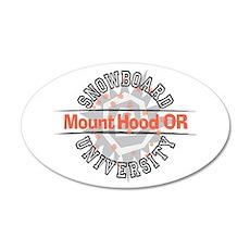 Snowboard Mt. Hood OR 22x14 Oval Wall Peel