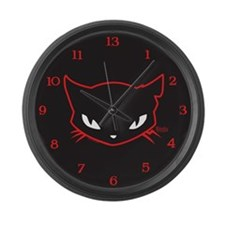 Cathead Sabbath Large Wall Clock