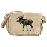 Moose drawing Messenger Bag