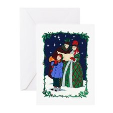 Dickensian Carolers Greeting Cards (Pk of 20)