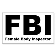 FBI Female Body Inspector Rectangle Decal