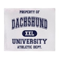 Dachshund University Throw Blanket