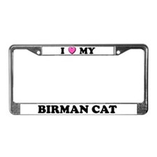 I Heart My Birman Cat License Plate Frame