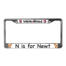 N is for Newt License Plate Frame