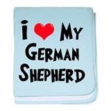 I Love My German Shepherd baby blanket