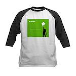 iPolka Parody Kids Baseball Jersey (Green Version)