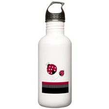 Red & Black Ladybug Water Bottle