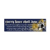 Every Knee Shall Bow Car Magnet 10 x 3