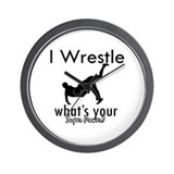 I Wrestle Wall Clock