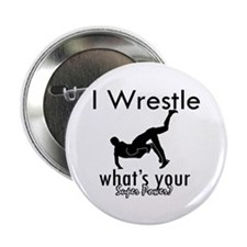 """I Wrestle 2.25"""" Button (10 pack)"""