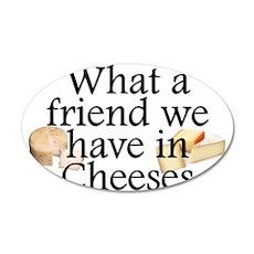 Cheeses 38.5 x 24.5 Oval Wall Peel