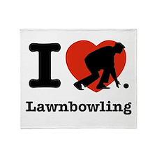 I love Lawn bowling Throw Blanket