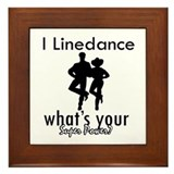 I Linedance Framed Tile