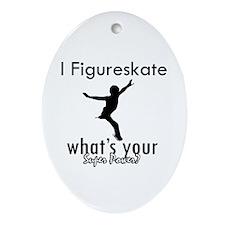 I Figure Skate Ornament (Oval)