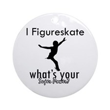 I Figure Skate Ornament (Round)