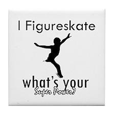I Figure Skate Tile Coaster