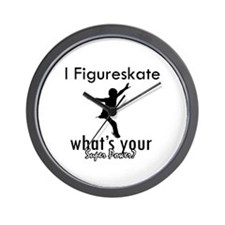 I Figure Skate Wall Clock
