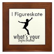 I Figure Skate Framed Tile
