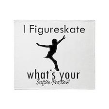 I Figure Skate Throw Blanket